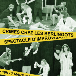 Visuel du spectacle Crimes chez les Berlingots