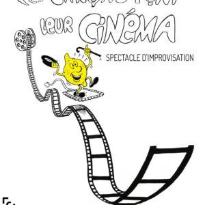 Dessin de citron glissant sur une bobine de film