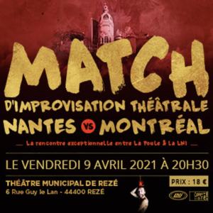 Visuel du match d'impro LNI-Poule du 9 avril 2021