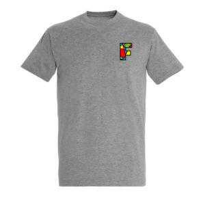 Tshirt homme gris avec logo la Fabrique à Impros